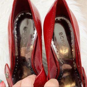 BCBGirls Shoes - Bcbgirls Red Patent Leather Mary Jane Wedge Heel
